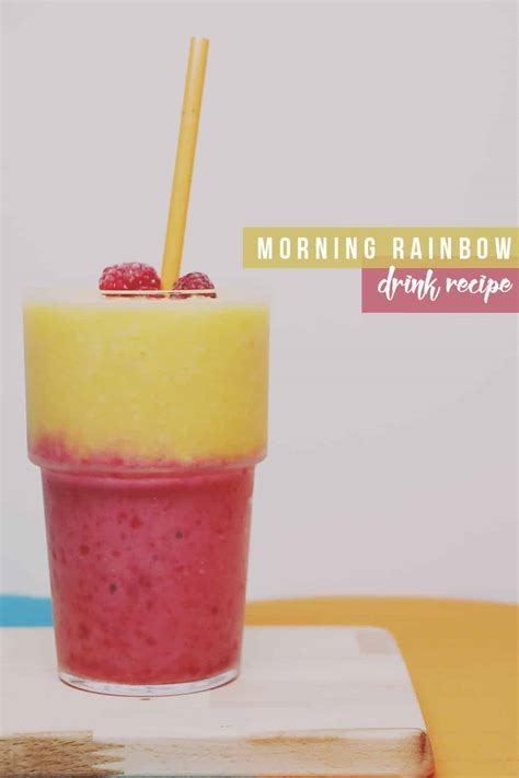 rainbow cocktail recipe morning rainbow smoothie a focus on vitality when you re
