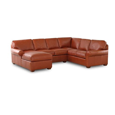 leather sectional discount comfort design cl4004 sect journey leather sectional