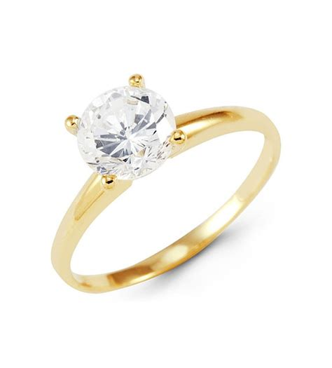 gold band engagement rings wedding promise