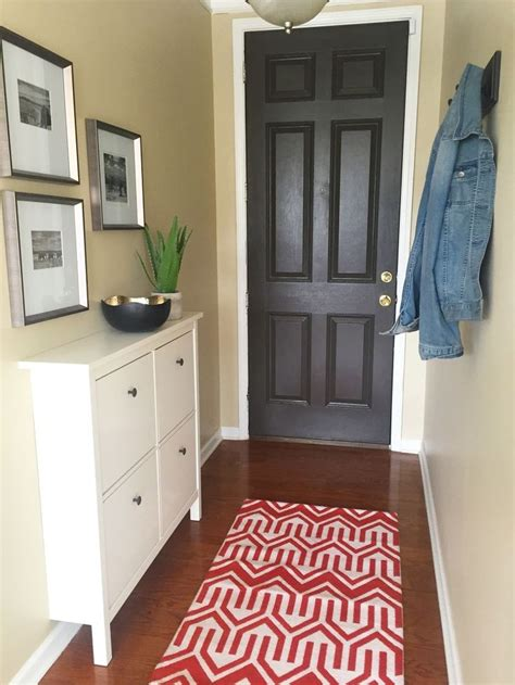 narrow entryway makeover narrow entryway