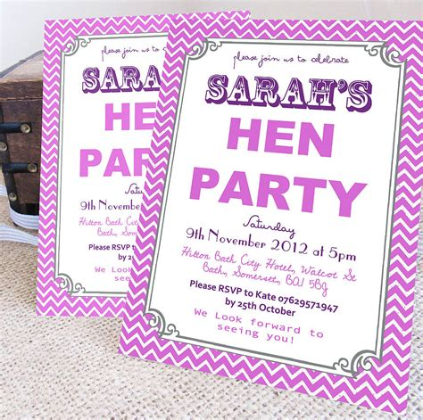 hens invitation templates personalised hen invitations by precious