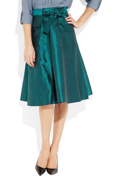 a line silk skirt fashion skirts