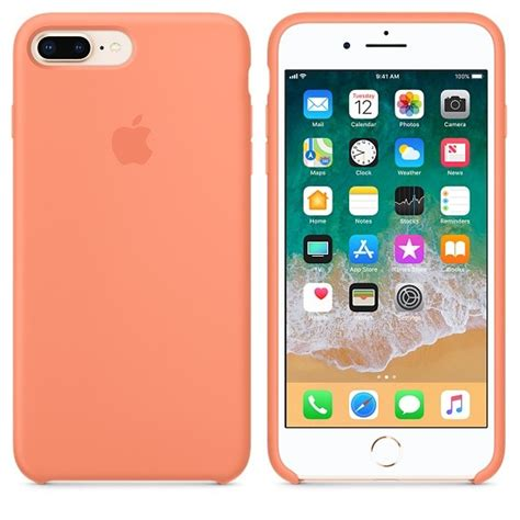 apple apple silicone case  iphone   peach