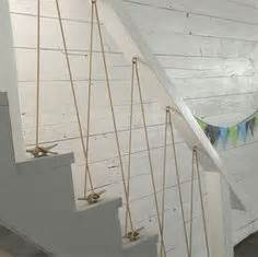 rope banisters for stairs rope staircase railing bannister wrapped around steel bards do it yourself