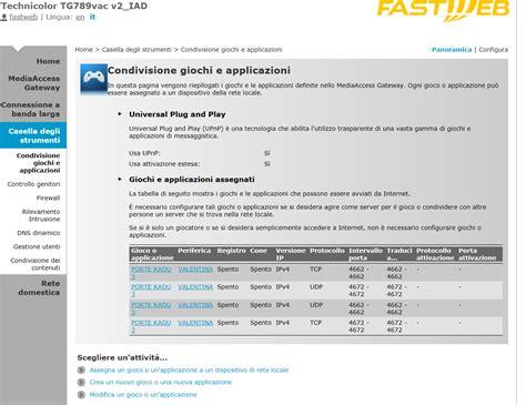 test porte adunanza problemi conn kadu con nuovo router tg789vac v2 iad