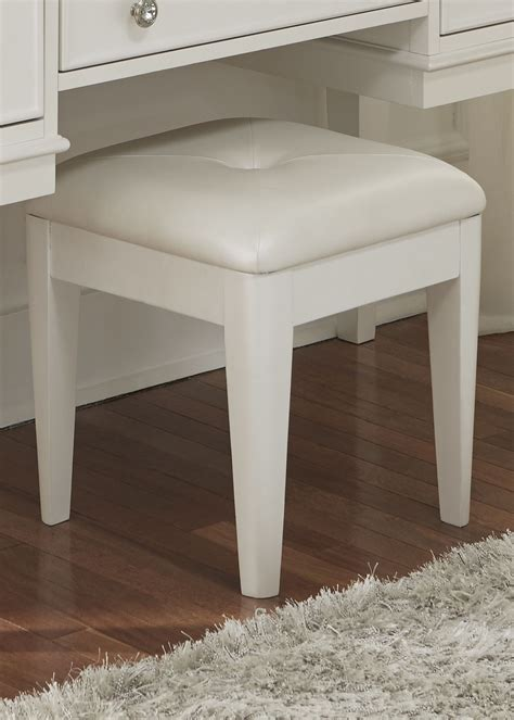 white vanity bench stardust iridescent white vanity bench from liberty 710