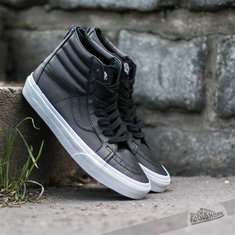 Vans Sk8hi Black White Premium vans sk8 hi reissue zip premium leather black true white footshop