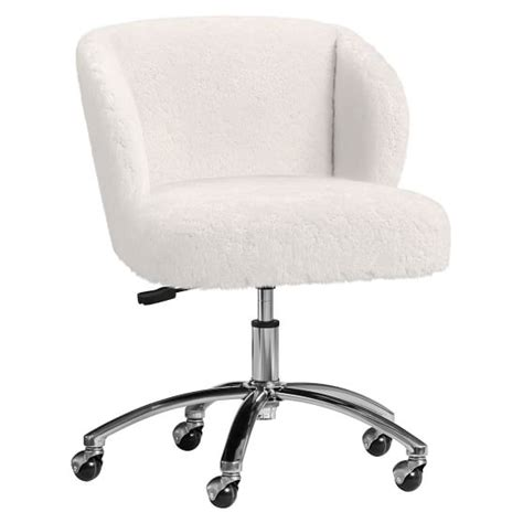 fur wingback desk chair polar faux fur wingback chair pbteen