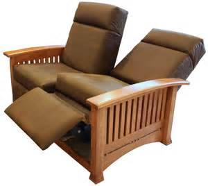 Sectional Sofas For Small Spaces With Recliners - modern mission double recliner loveseat ohio hardwood furniture