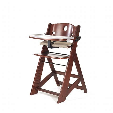 keekaroo high chair keekaroo height right high chair with tray mahogany