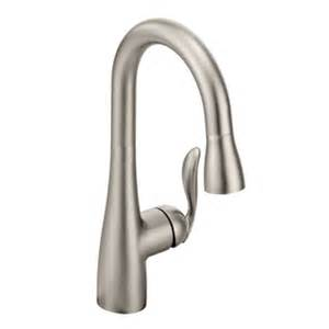 moen 5995csl arbor one handle high arc pulldown bar faucet moen 7594orb arbor single handle high arc pulldown kitchen