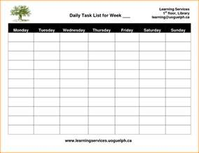 daily task list template daily task template authorization letter pdf