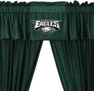Soccer Curtains Valance Nfl Philadelphia Eagles Football 5pc Valance Curtains Set Modern Curtains