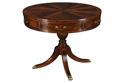 mahogany accent table mahogany large drum entry table