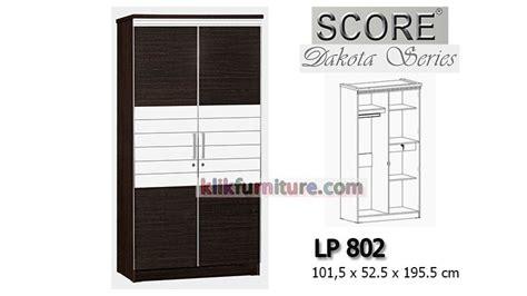 Lemari Pakaian 2 Pintu Khusus Pengiriman Daerah Cirebon lemari baju 2 pintu minimalis lp 802 dakota score harga promo