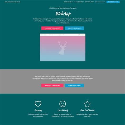 80 Free Bootstrap Templates You Can T Miss In 2018 Bootstrap Web Application Template Free