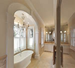 Homebase Kitchen Designer arch accenuates tub in master bath traditional