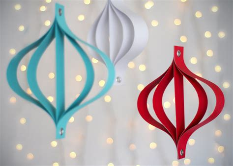 How To Make Paper Decorations At Home - how to make modern paper ornaments 187 curbly diy design