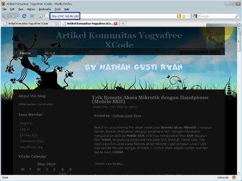 membuat website intranet cara agar website intranet dapat di akses internet