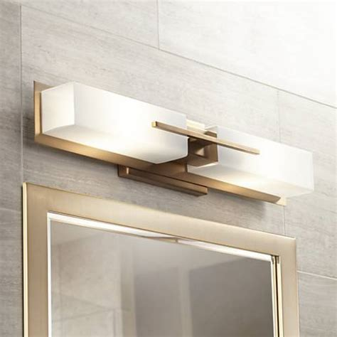possini bathroom light fixtures possini euro midtown 23 1 2 quot w burnished brass bath light