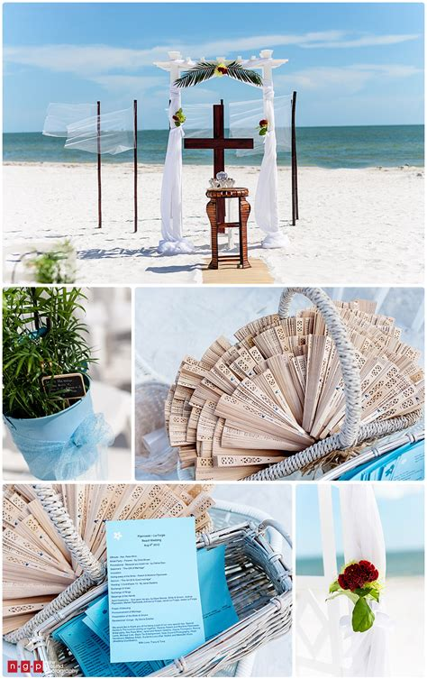 pink shell resort wedding tracy tony florida beach