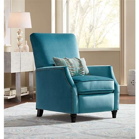 Turquoise Recliner Chairs by Katy Turquoise Velvet Recliner Chair 9x293 Ls Plus