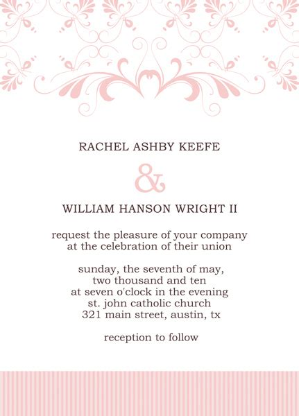 invitation card template publisher microsoft publisher wedding invitation templates start
