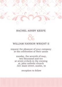 Invitation Publisher Template by Wedding Invitation Wording Wedding Invitations Templates