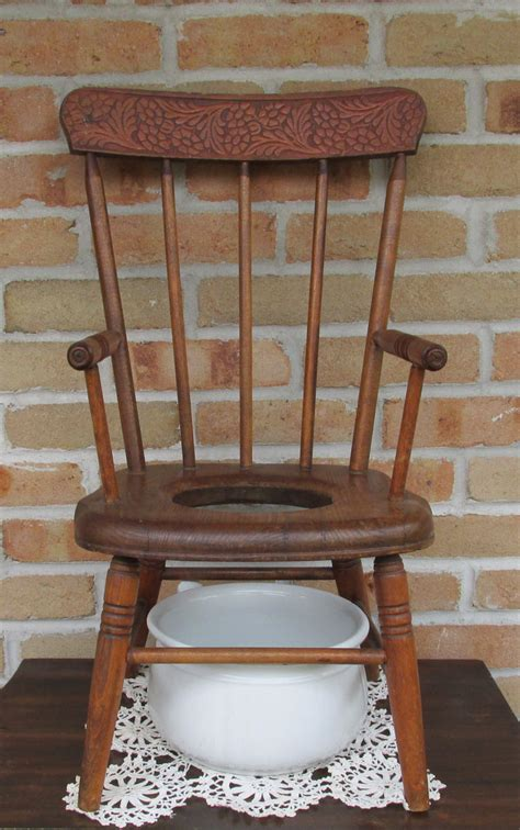 Antique Potty Chair by Antique Fan Back Childs Potty Chair By 2sisterspicks