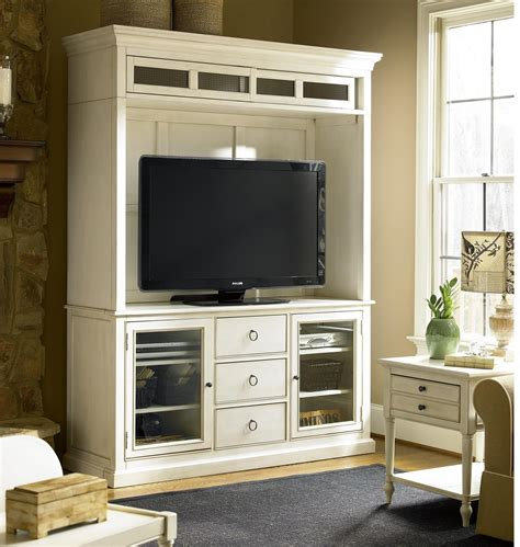 country chic maple wood white tv stand  hutch zin home