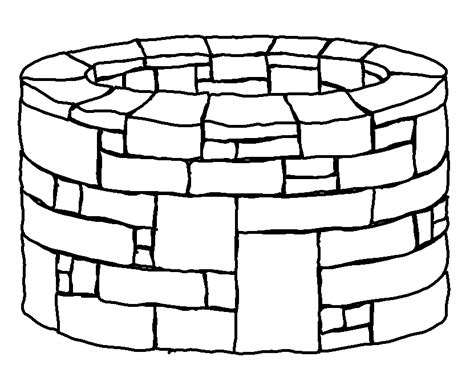 paint with water coloring pages picture of well for colouring clipart best