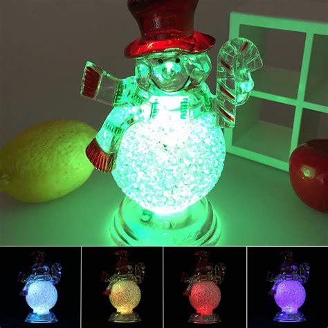 color changing led christmas lights home acrylic christmas xmas transparent snowman led light color