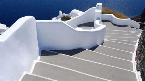stairs  sea santorini village  oia greece windows