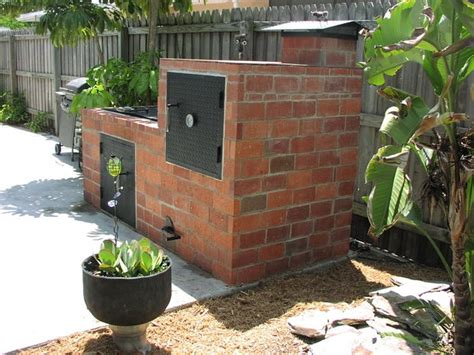 diy backyard smoker backyard brick barbeques dig this design