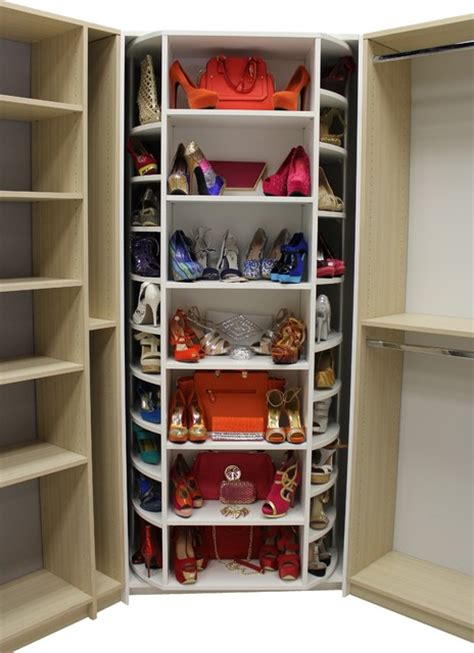Rotating Closet Storage by Revolving Walk In Closet Organizer By Logical Design