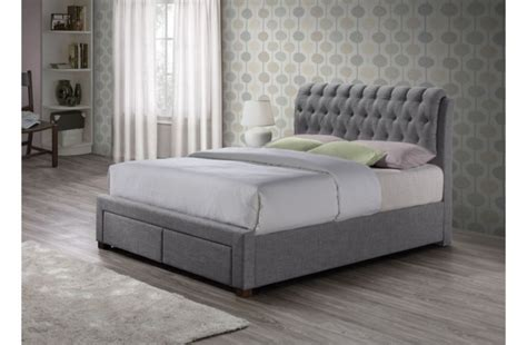 grey fabric bed frame birlea valentino 5ft kingsize grey fabric bed frame with 2