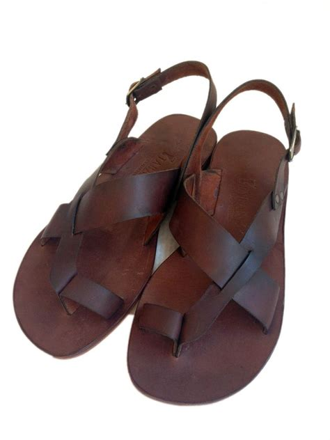 handmade mens leather sandals new handmade 100 genuine leather sandals aias ebay