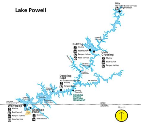 lake powell map lake powell glen national recreation area u s national park service