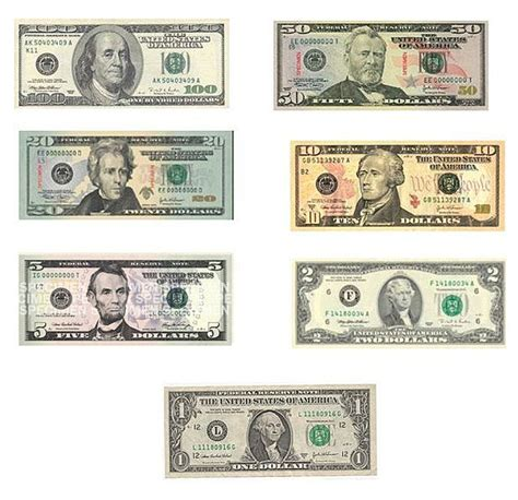 all us currency bills left bank of the charles all those other presidents on