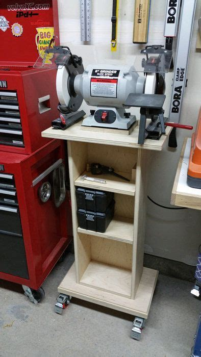 how to make a bench grinder stand grinder stand garage organization pinterest