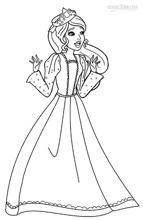 printable barbie princess coloring pages  kids