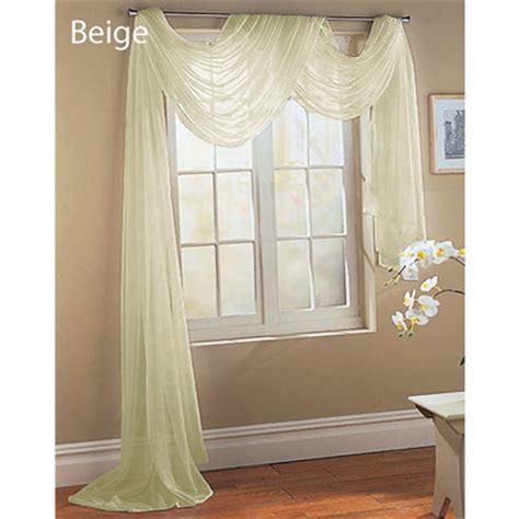 beige sheer window scarf just 5 90 shipped