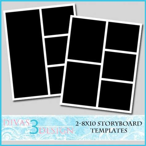 Items Similar To 8x10 Storyboard Collage Templates Set 2 Instant Download On Etsy 8x10 Photo Collage Template