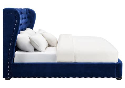 blue velvet bed tov furniture finley blue velvet bed b32 at homelement com