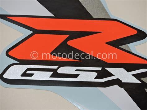 Suzuki Decal Kit Suzuki Gsx R 600 2007 White Decal Kit By Motodecal