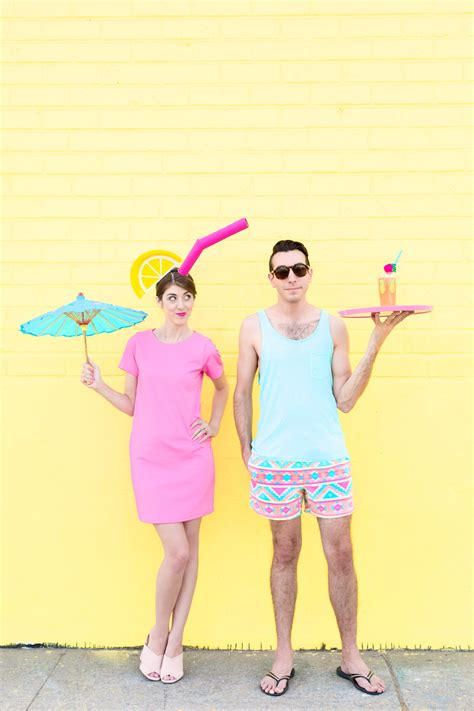 diy costumes diy tropical drink pool boy couples costume studio diy