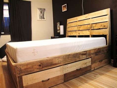 Reclaimed Wood Platform Bed With Storage by Bed Headboards Best Bed And Heardboard Ideas