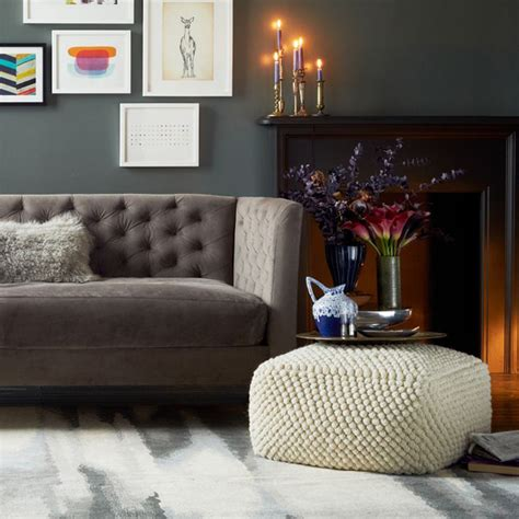 Living Room Pouf | add comfort to your home with floor pillows and poufs