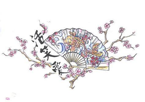 japanese fan tattoo designs fan design http www tattoodesignslive