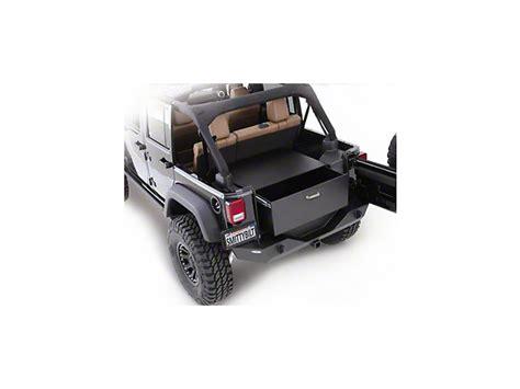 jeep wrangler storage ideas smittybilt wrangler security storage vault rear lockable